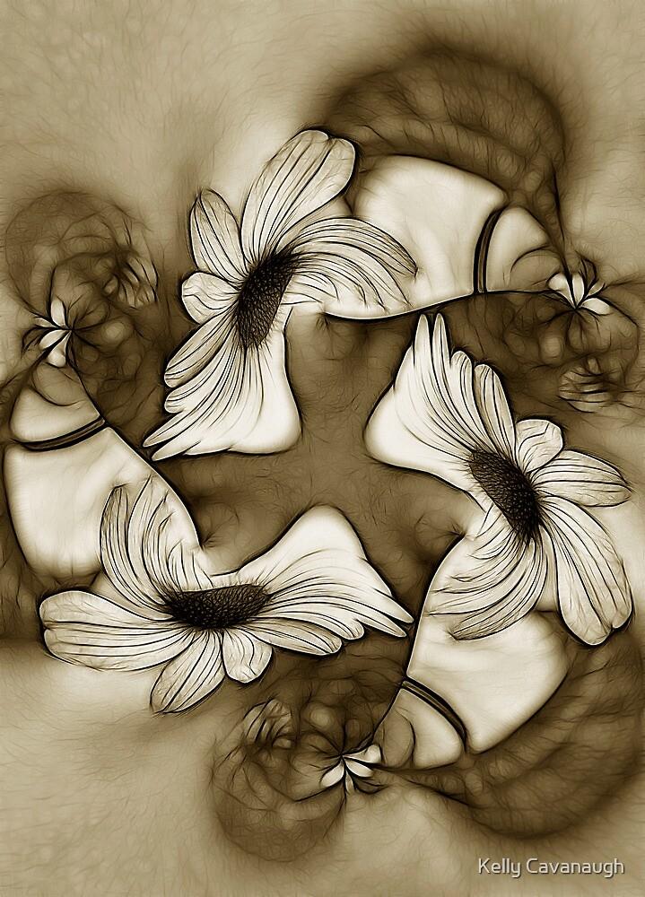 Dancing Coneflowers by Kelly Cavanaugh