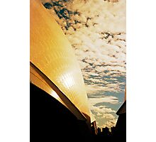 Opera House and stippled sky #3 Photographic Print