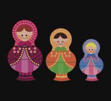 Matrioskas 2 (Russian dolls 2) One Piece - Long Sleeve