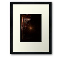 There's Always Light At The End Framed Print
