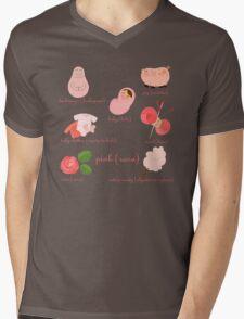 Colors: pink (Los colores: rosa) Mens V-Neck T-Shirt