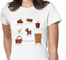 Colors: brown (Los colores: marrón) Womens Fitted T-Shirt