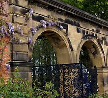 Alnwick Gardens, walled garden gateway by BronReid