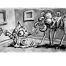 Cat Plus Bug Cartoon by Matt Bissett-Johnson