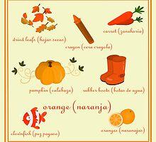 Colors: orange (Los colores: naranja) by alapapaju