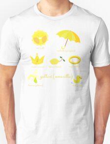 Colors: yellow (Los colores: amarillo) Unisex T-Shirt