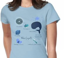 Colors: blue (Los colores: azul) Womens Fitted T-Shirt