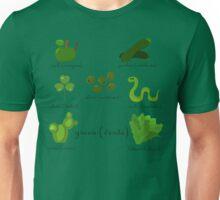 Colors: green (Los colores: verde) Unisex T-Shirt