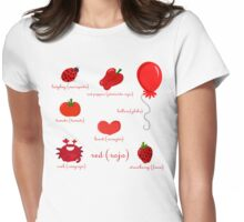 Colors: red (Los colores: rojo) Womens Fitted T-Shirt