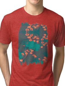 Medusa / Crazy Jellyfish Blue Atoll Tri-blend T-Shirt