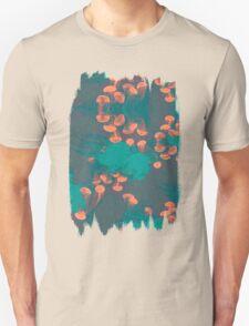 Medusa / Crazy Jellyfish Blue Atoll Unisex T-Shirt