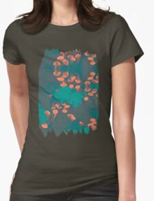 Medusa / Crazy Jellyfish Blue Atoll Womens Fitted T-Shirt