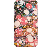Psychedelic Retro Marbling Paper iPhone Case/Skin