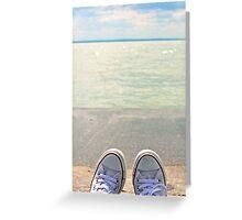 my converse & lakeshore Greeting Card