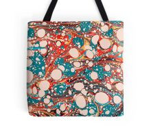 Psychedelic Marbled Paper Splash Blob Tote Bag