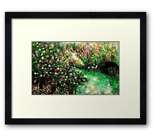 THE MAGICAL GARDEN** ITS A WONDERFUL WORLD ..LOUIE ARMSTRONG Framed Print