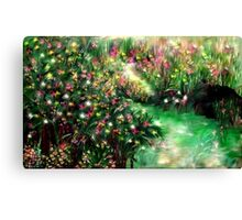 THE MAGICAL GARDEN** ITS A WONDERFUL WORLD ..LOUIE ARMSTRONG Canvas Print