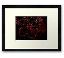 Fury Red Exotic Flower Framed Print