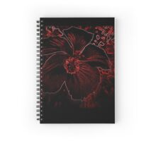 Fury Red Exotic Flower Spiral Notebook