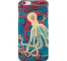 Marbling Paper Octopus Blob by Pepe Psyche iPhone Case/Skin