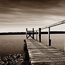 Lake Sorrell Pier by CezB