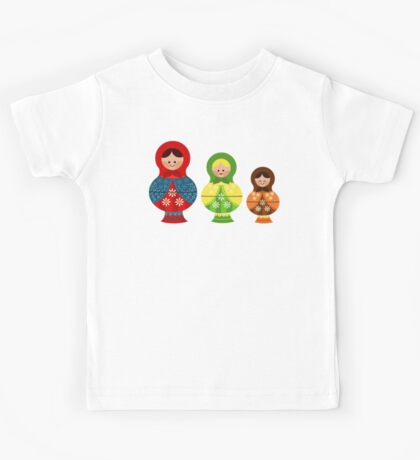 Matrioskas (Russian dolls) Kids Tee
