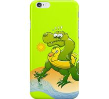 Tyrannosaurus Rex Dipping a Toe in Water iPhone Case/Skin