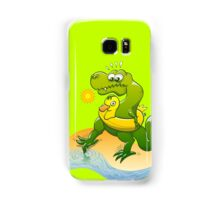 Tyrannosaurus Rex Dipping a Toe in Water Samsung Galaxy Case/Skin