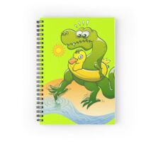 Tyrannosaurus Rex Dipping a Toe in Water Spiral Notebook