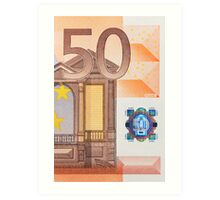 Fifty Euro Note Art Print