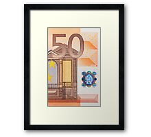 Fifty Euro Note Framed Print