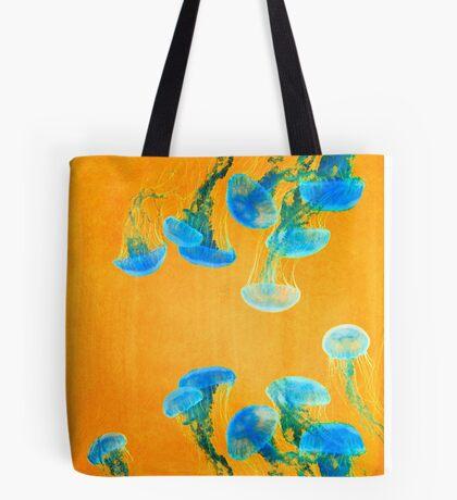 Crazy Yellow Burning Jellyfish Tote Bag