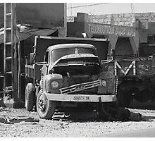 Truck Repair Photographic Print