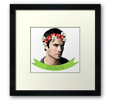Ian Somerhalder Superhero Framed Print