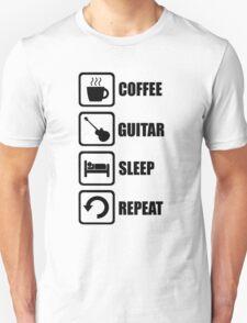 Coffee Guitar Sleep Repeat T-Shirt