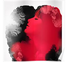 Psychedelic Ink Red Girl Poster