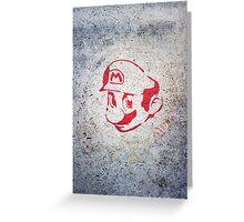 Super Mario Bros Urban Hip Hop Wall Tag Greeting Card