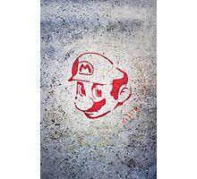 Super Mario Bros Urban Hip Hop Wall Tag Photographic Print