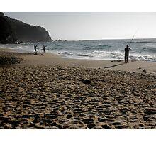 Beach Fishing, Stanwell Park, Australia. Photographic Print