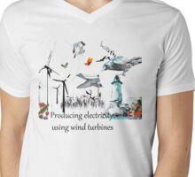 Wind Power Mens V-Neck T-Shirt