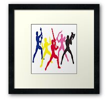 Mighty Morphin Power Rangers Silhouette 1 Framed Print