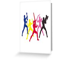 Mighty Morphin Power Rangers Silhouette 1 Greeting Card