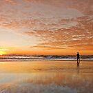 """Catching"" the Sunrise -Main Beach Qld Australia by Beth  Wode"