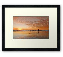 """Catching"" the Sunrise -Main Beach Qld Australia Framed Print"