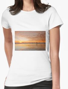 """Catching"" the Sunrise -Main Beach Qld Australia Womens Fitted T-Shirt"