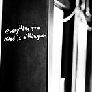 Everything You Need Is Within You by Nicole a Alley