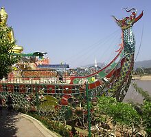 Dragon Ship Replica at the Golden Triangle, Thailand. by Mywildscapepics