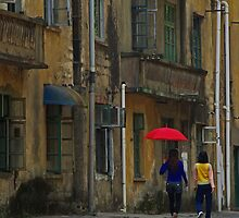 Red Umbrella - Yangshuo, China by AlliD