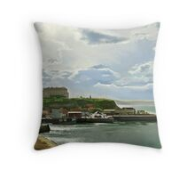 Whitby looking towards Sandsend  Throw Pillow