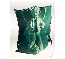 Photo of Green Boy Statue - by Paul Williams Poster